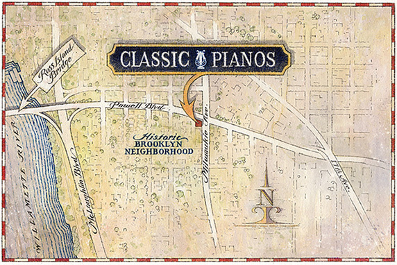 Contact Us Location Classic Pianos Of Portland Oregon - Portland on us map